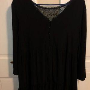 Sezane silk black dress.